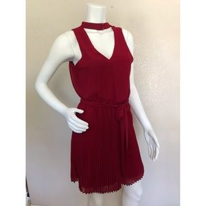 A-Byer  Red Sleeveless Lined Cocktail Dress Large